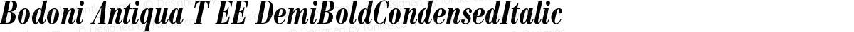 Bodoni Antiqua T EE DemiBoldCondensedItalic