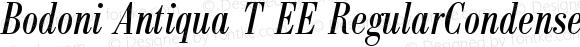 Bodoni Antiqua T EE RegularCondensedItalic
