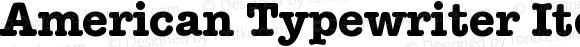American Typewriter Itc D EE Bold Version 001.005