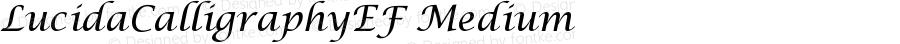LucidaCalligraphyEF Medium Version 001.001