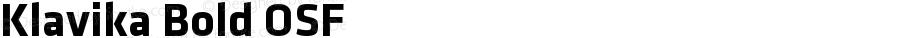 Klavika Bold OSF Version 001.000