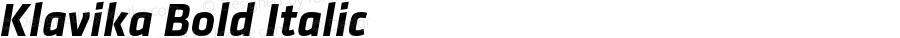Klavika Bold Italic Version 001.000