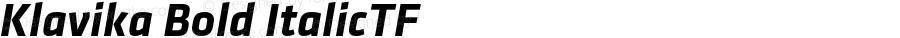 Klavika Bold ItalicTF Version 001.000