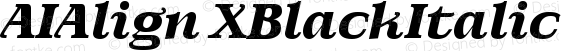 AIAlign XBlackItalic