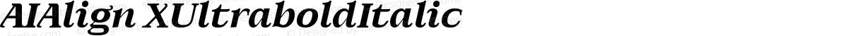 AIAlign XUltraboldItalic