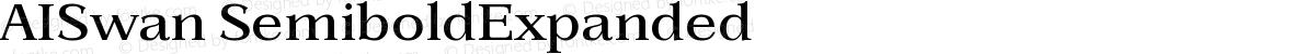 AISwan SemiboldExpanded