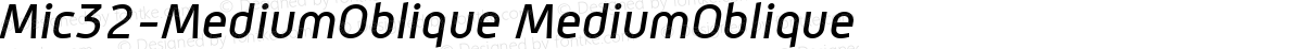 Mic32-MediumOblique MediumOblique