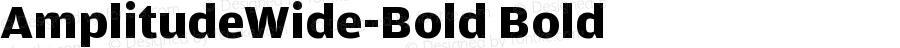 AmplitudeWide-Bold Bold Version 001.000