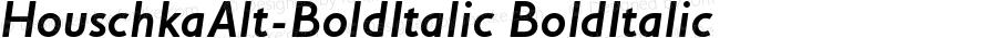 HouschkaAlt-BoldItalic BoldItalic Version 001.000