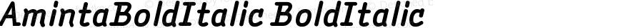 AmintaBoldItalic BoldItalic Version 001.000