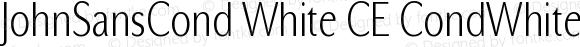 JohnSansCond White CE CondWhiteCE