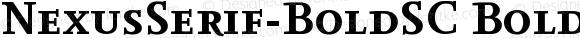 NexusSerif-BoldSC BoldSC Version 4.460