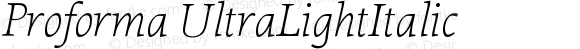 Proforma UltraLightItalic