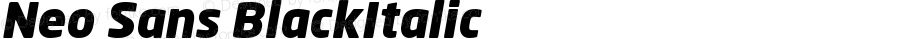 Neo Sans Black Italic