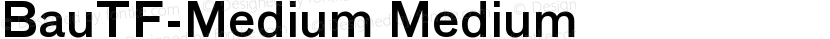 BauTF-Medium Medium Preview Image