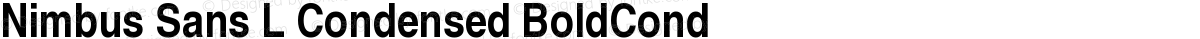 Nimbus Sans L Condensed BoldCond