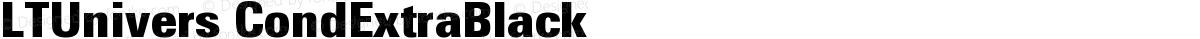 LTUnivers CondExtraBlack