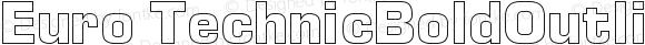 Euro TechnicBoldOutline