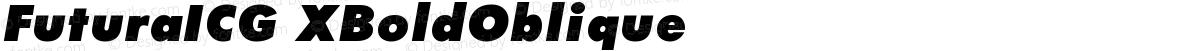 FuturaICG XBoldOblique
