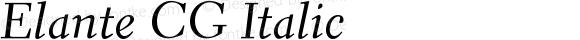 Elante CG Italic Version 004.054