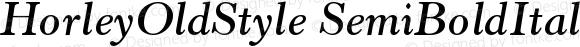 HorleyOldStyle SemiBoldItalicPL