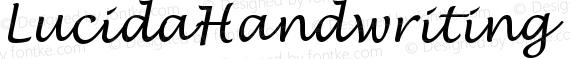 LucidaHandwriting Italic preview image