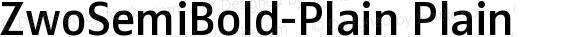 ZwoSemiBold-Plain Plain Version 4.313