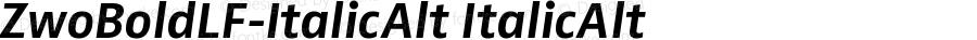 ZwoBoldLF-ItalicAlt ItalicAlt Version 4.313