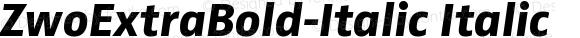 ZwoExtraBold-Italic Italic Version 4.313