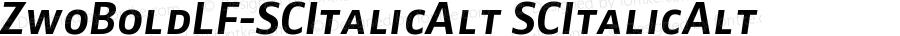 ZwoBoldLF-SCItalicAlt SCItalicAlt Version 4.313