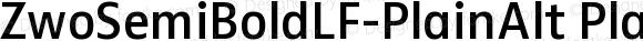 ZwoSemiBoldLF-PlainAlt PlainAlt Version 4.313