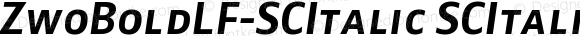 ZwoBoldLF-SCItalic SCItalic Version 4.313