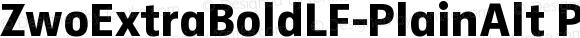 ZwoExtraBoldLF-PlainAlt PlainAlt Version 4.313