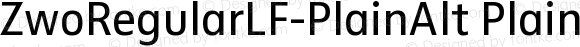 ZwoRegularLF-PlainAlt PlainAlt Version 4.313