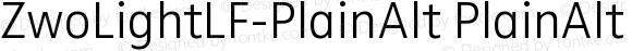 ZwoLightLF-PlainAlt PlainAlt Version 4.313