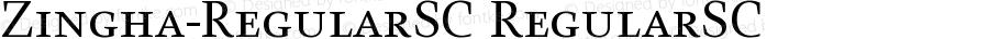 Zingha-RegularSC RegularSC Version 001.000