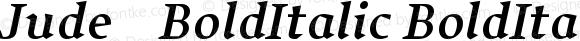 Jude-BoldItalic BoldItalic-BoldItalic Version 001.001