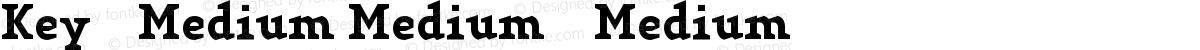 Key-Medium Medium-Medium