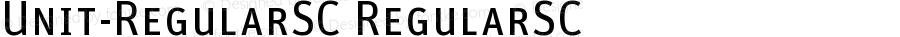 Unit-RegularSC RegularSC Version 4.452