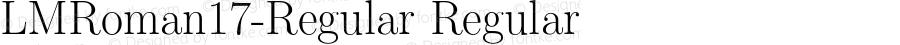 LMRoman17-Regular Regular Version 1.010;PS 1.010;hotconv 1.0.49;makeotf.lib2.0.14853
