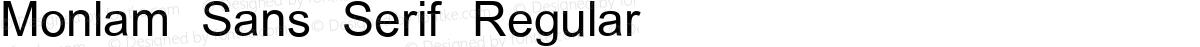 Monlam Sans Serif Regular