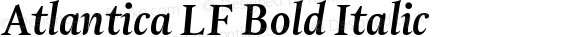 Atlantica LF Bold Italic