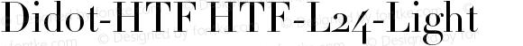 Didot-HTF HTF-L24-Light Version 001.000