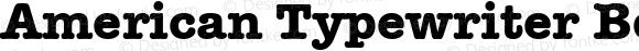American Typewriter Bold 5.0d1