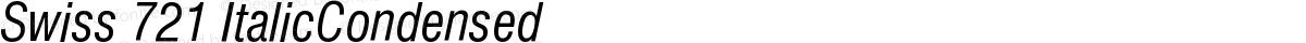 Swiss 721 ItalicCondensed