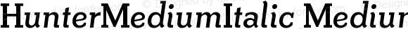 HunterMediumItalic MediumItalic