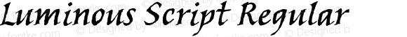 Luminous Script Regular