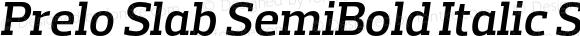 Prelo Slab SemiBold Italic SemiBold Italic