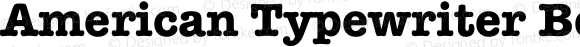 American Typewriter Bold Unknown