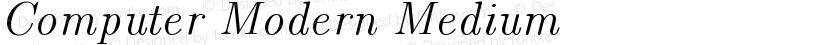 Computer Modern Medium Preview Image